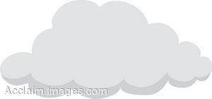 Small Gray Cloud Clip Art.