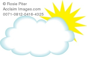 Royalty Free Clipart Illustration of a Cloud With the Sun.