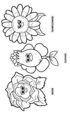 Girl Scout Clover Flower Petal Clipart.