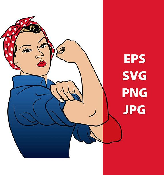 Rosie the Riveter svg Rosie the Riveter clipart we can do it.