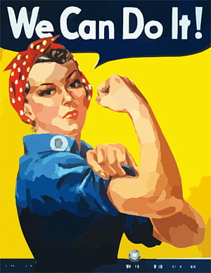 We Can Do It! Rosie the Riveter Ammunition box, girl power.