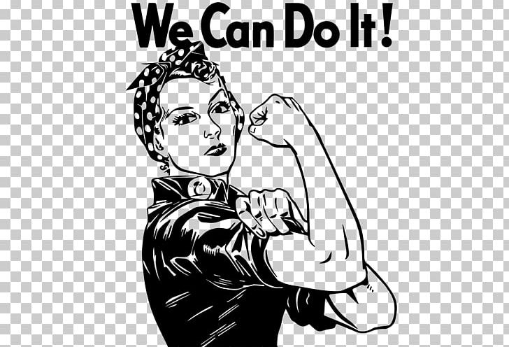 Rosie The Riveter We Can Do It! Woman Decal PNG, Clipart.