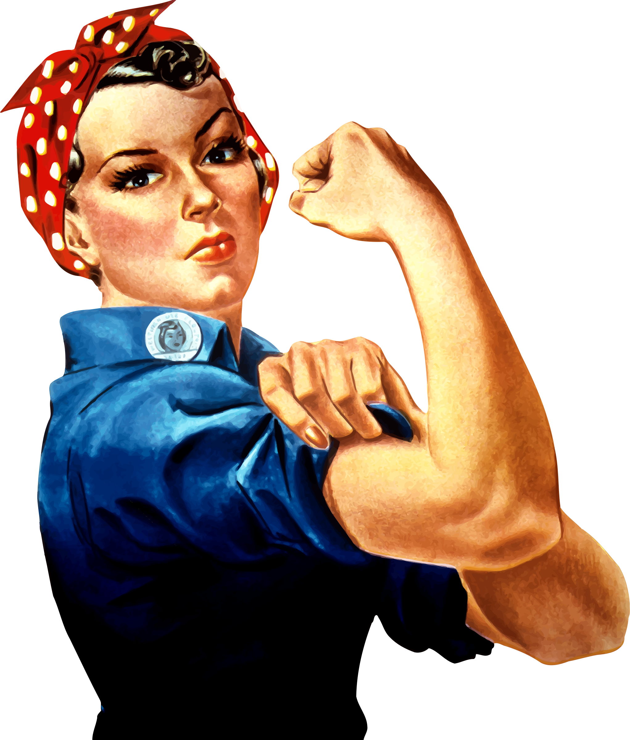 Rosie the Riveter vector clipart image.