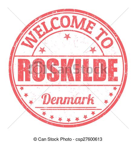 Vector Clip Art of Welcome to Roskilde stamp.