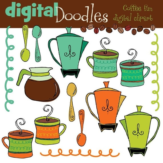 coffee digital clip art.