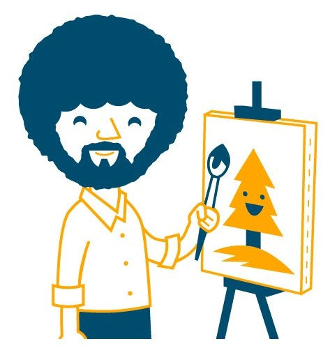 Bob ross paintings, Bob ross and Bobs on Pinterest.