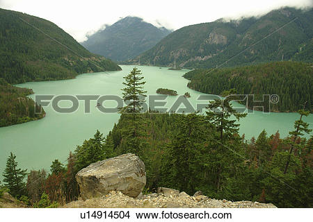 Stock Photo of North Cascades, WA, Washington, Okanogan National.