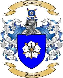 Rossberg Family Crest from Sweden by The Tree Maker.