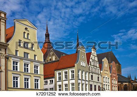 Stock Photo of Historical buildings in Rostock (Germany). k7201252.