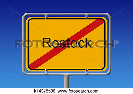 Pictures of City Sign City Limit Rostock k14378588.