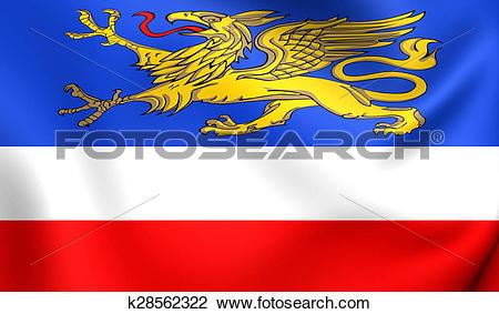 Clip Art of Flag of Rostock, Germany. k28562322.