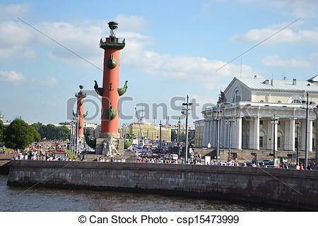 Stock Fotografien von vasilevsky, rostral, Säulen, Pfeil, Insel.