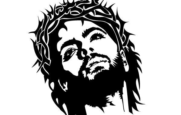 Cara de jesus vector.