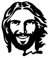 Jesus cristo desenho rosto.