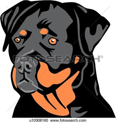 Clipart of Rottweiler u19125583.
