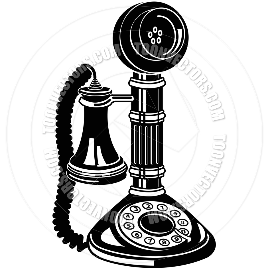 Rotary dial phone clipart.