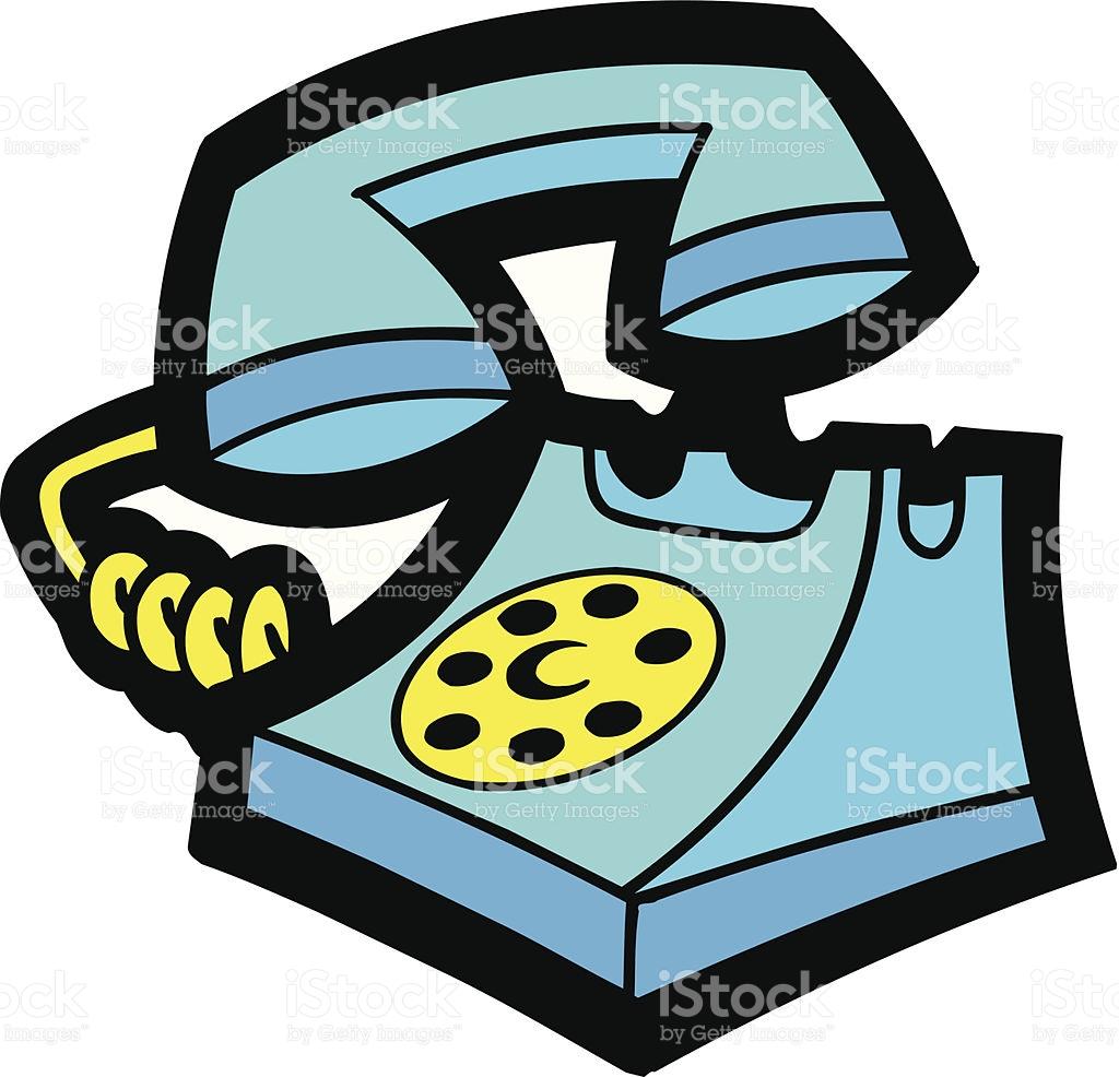 Old Rotary Telephone Vector Cartoon Clipart stock vector art.