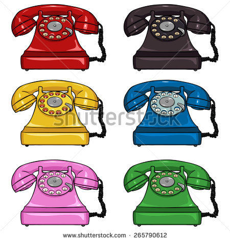 Red Rotary Phone Stock Vectors, Images & Vector Art.