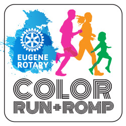 Eugene Rotary Color Run & Romp registration information at.