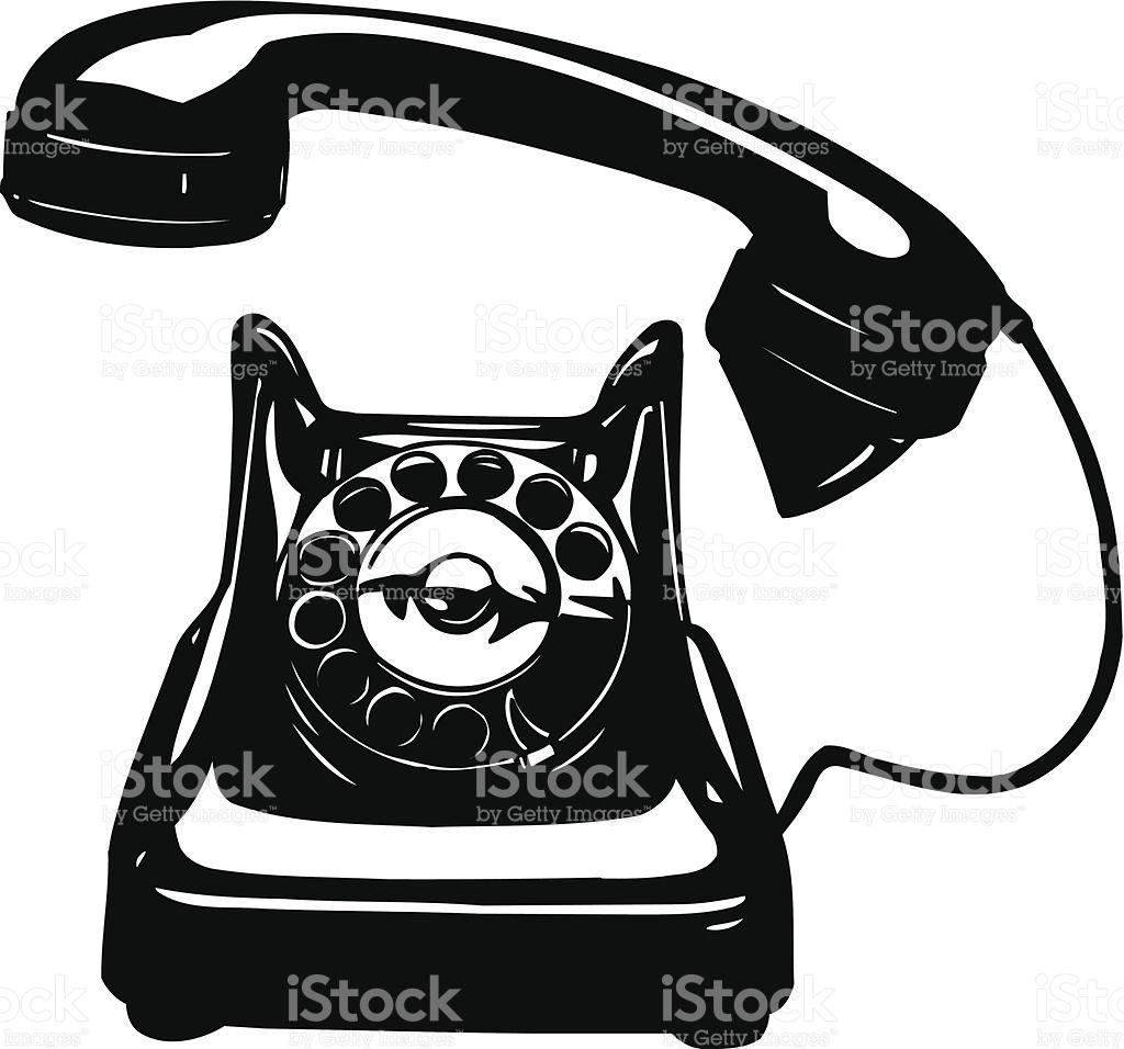 Old Phone Rotary Vector Cartoon Clipart stock vector art 505655109.