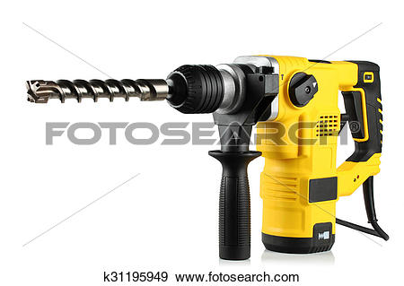 Stock Photograph of rotary hammer with a drill k31195949.
