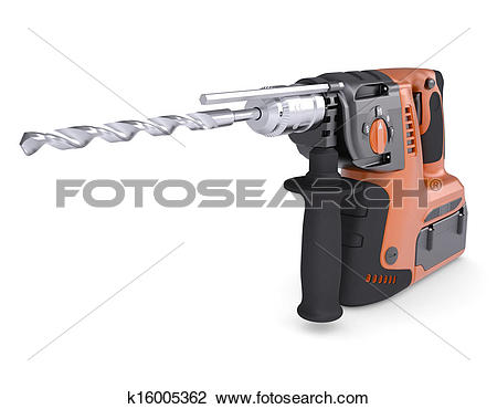 Clip Art of Rotary hammer k16005362.