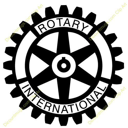 Clipart rotary international logo.