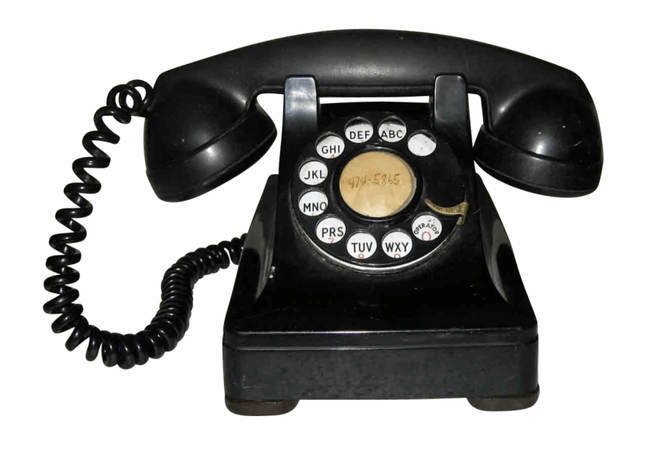 Download Old Bakelite Phone Transparent Png.
