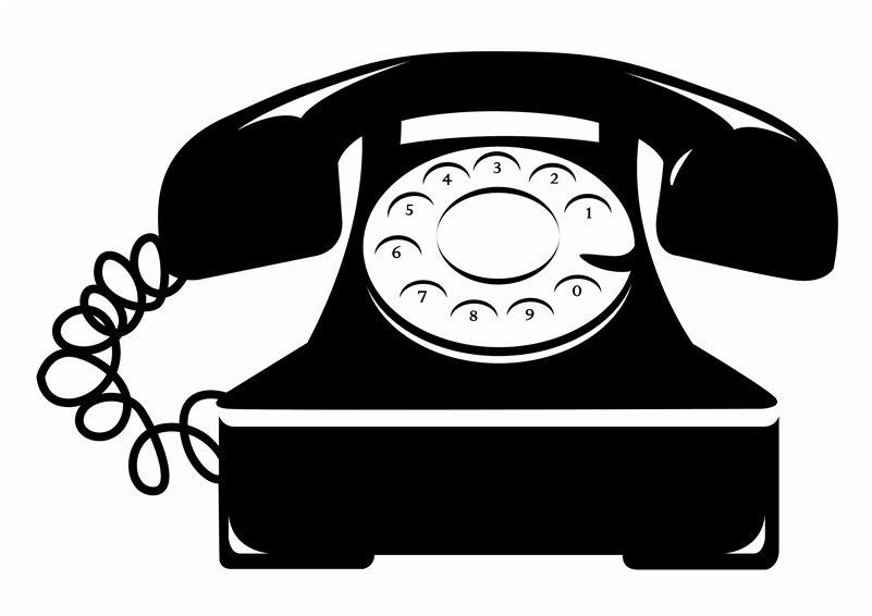 Rotary Telephone Vintage Wall Decals.
