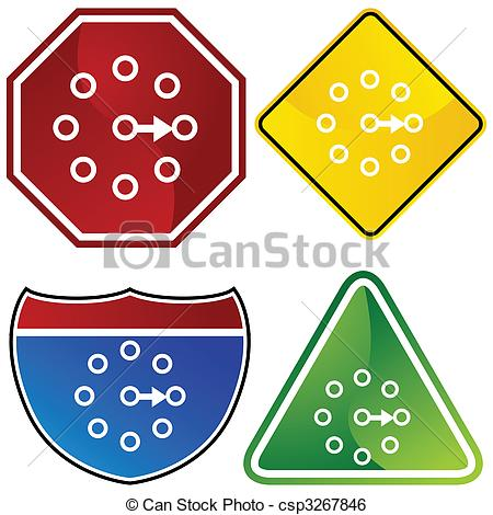 Clip Art Vector of Rotary Switch Icon.
