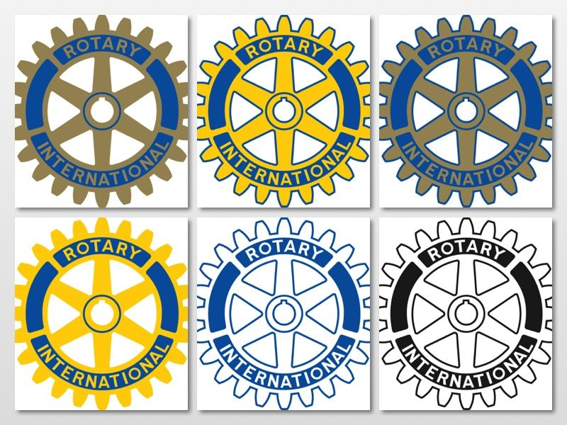 Here are all the approved versions of Rotary International\'s.