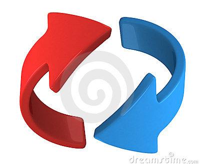 3d rotate arrow clipart.
