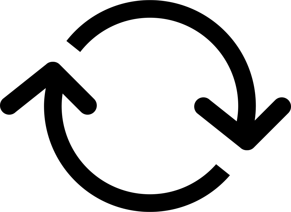 HD Arrows Circle With Clockwise Rotation Svg Png Icon.