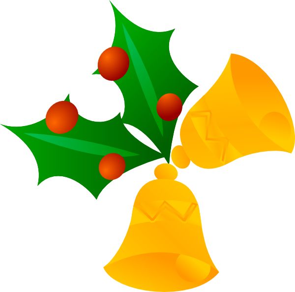 Christmas Bells (rotated) Clip Art at Clker.com.