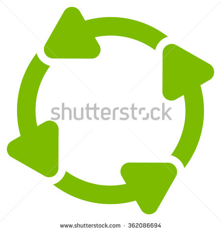 Green 3d Spinning Rotating Arrows Circle Stock Vector 268368485.