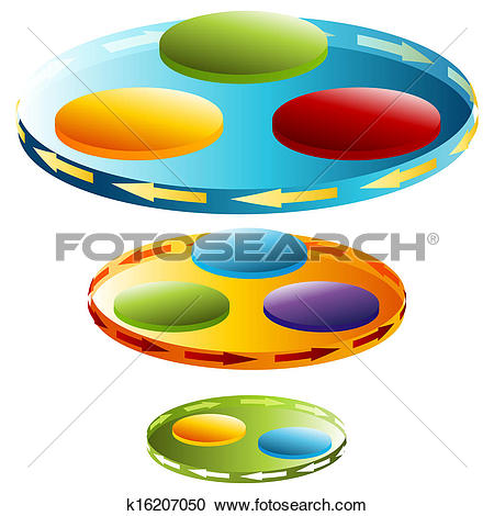 Clipart of 3d Rotating Disc Chart k16207050.