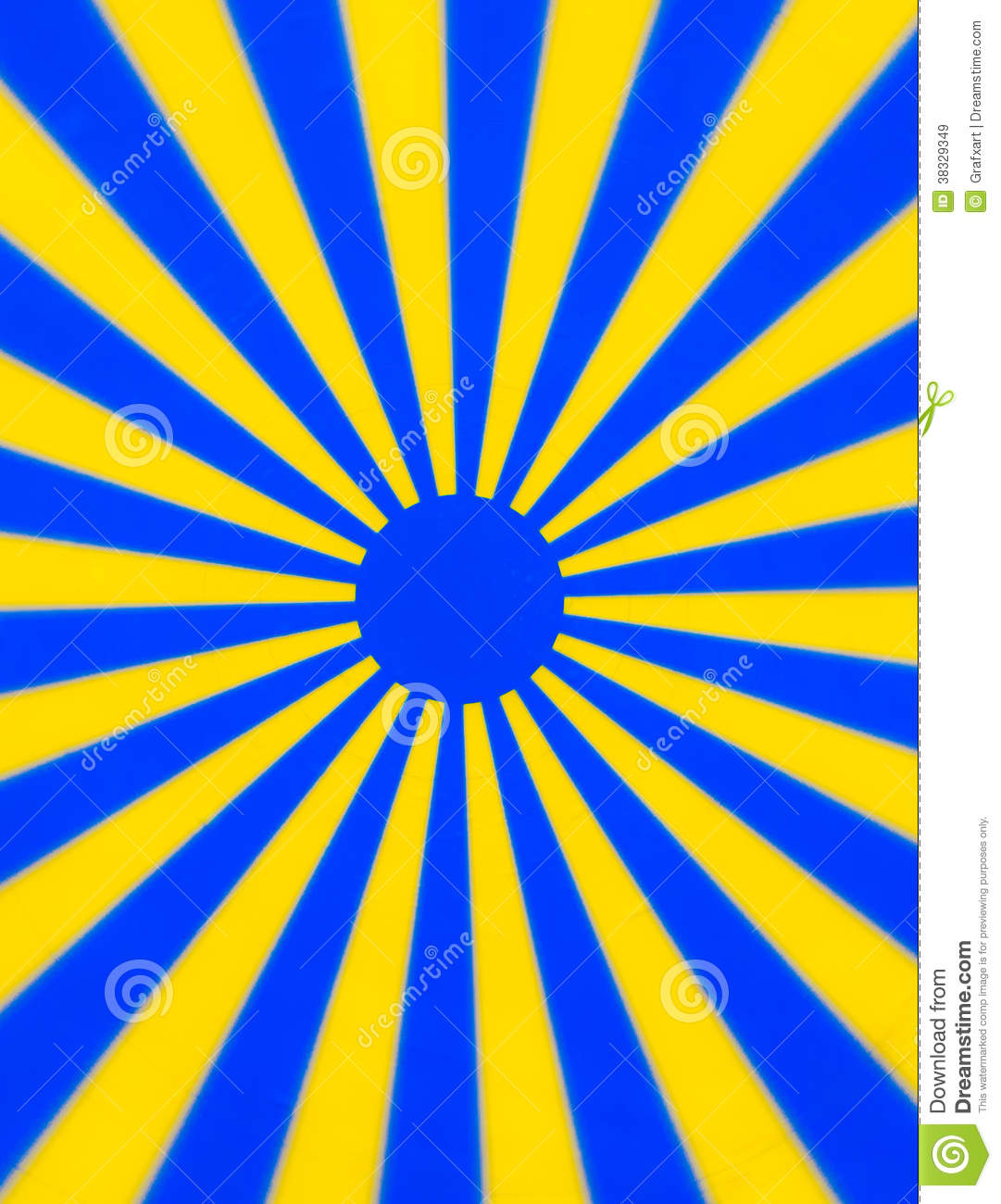 Yellow Blue Rotating Disc Royalty Free Stock Images.