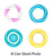 Vector Clipart of Rotating Disk Chart.