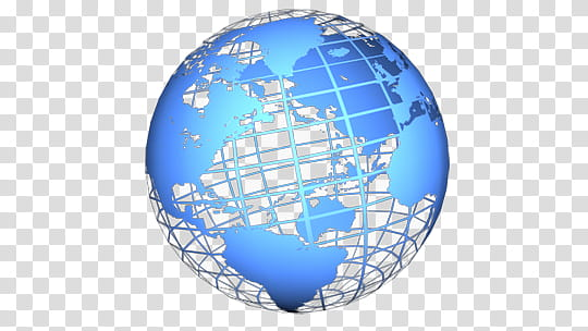 Rotating Globes V , blue globe illustration transparent.