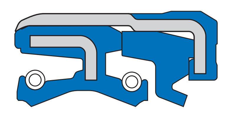 Shaft seal / for rotating shafts.