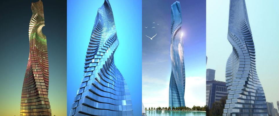 Israeli Designs Rotating Dubai Skyscraper.