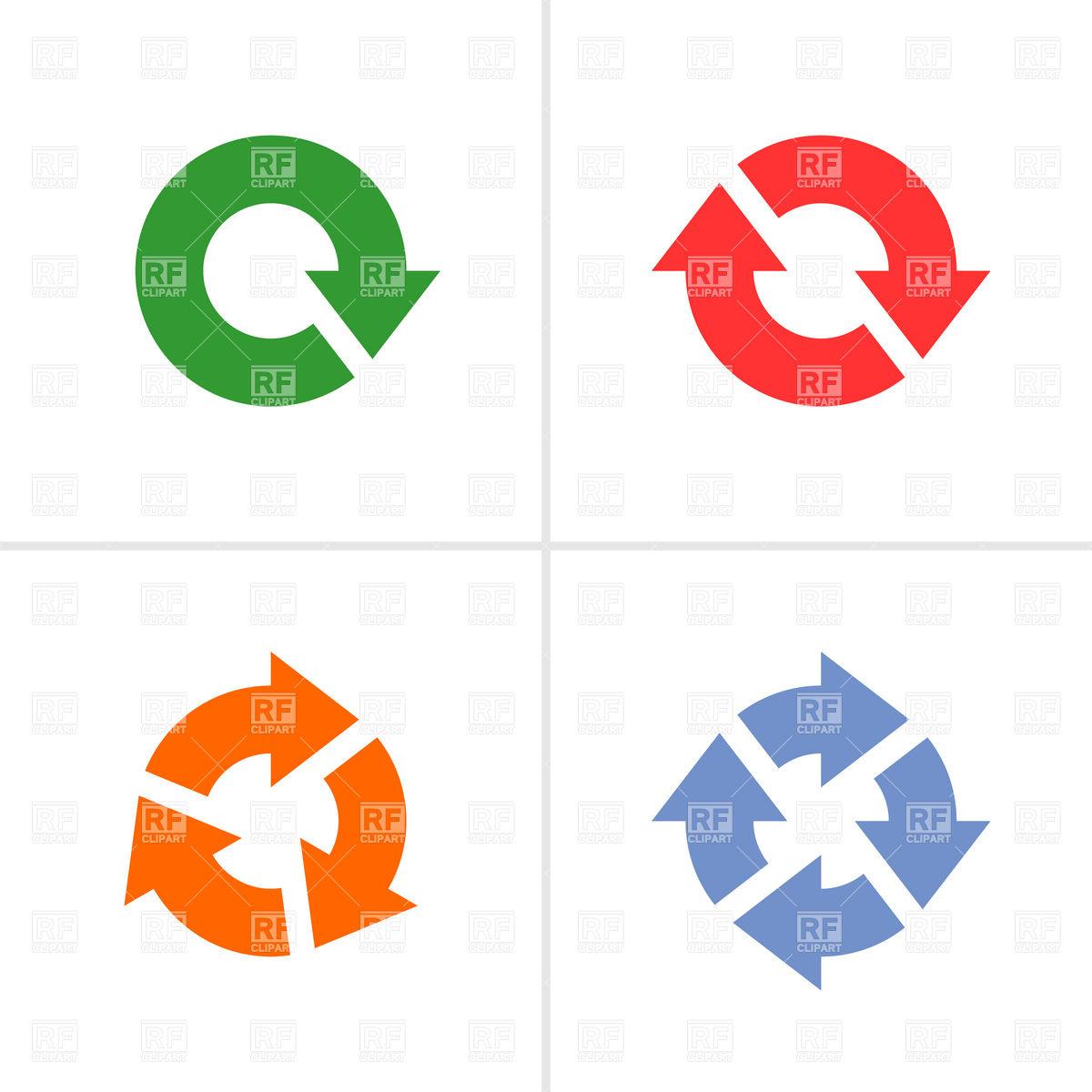 Simple color rotation arrows Vector Image #12688.