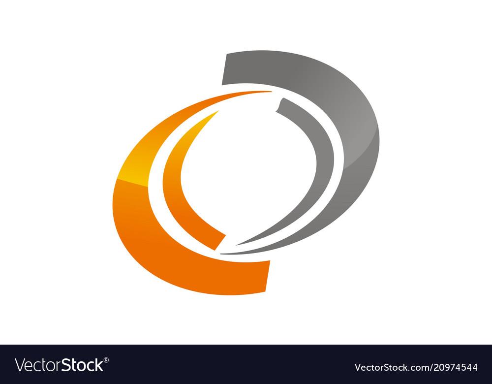 Dynamic rotation logo design template.