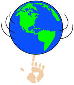 Spinning Earth Clipart.
