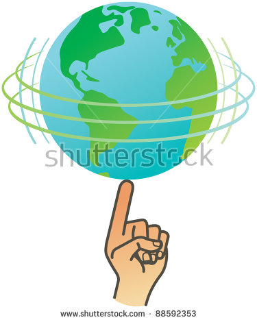 Spinning Earth Stock Vectors, Images & Vector Art.