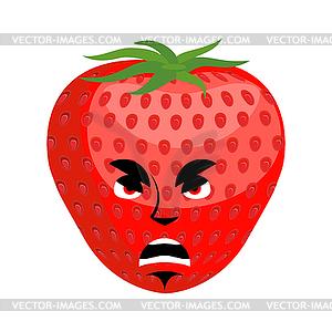wütend Emoji. Rote Grütze böse Emotion.