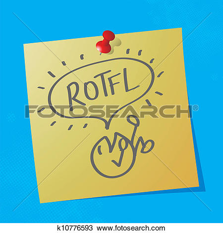 Clipart of rotfl handwritten nessage k10776593.