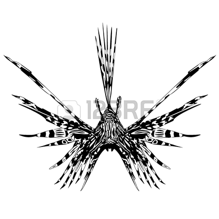 Lion Fish Tattoo Style Royalty Free Cliparts, Vectors, And Stock.