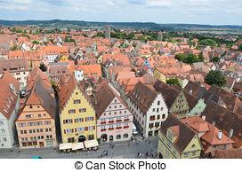 Stock Photos of Rothenburg ob der Tauber Church, Franconia.