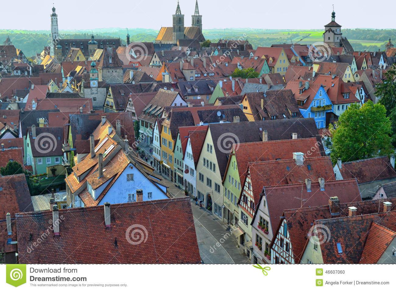 Rothenburg Editorial Stock Photo.